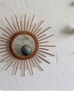 Miroir rotin forme Soleil