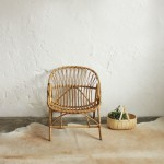 Fauteuil rotin vintage – F269