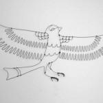 Trophée fil de fer – Oiseau