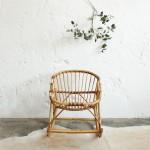 Rocking chair rotin vintage – Enfant