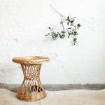 Table basse osier vintage – Diabolo